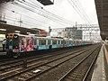 Hanshin 1208F train with Taiwan advertisment 20190506.jpg