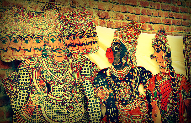 Ravana, Sita and Hanuman Painting