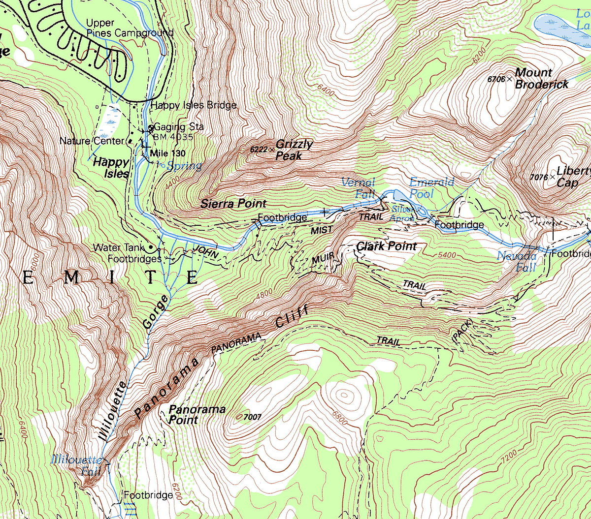 yosemite half dome trail map with Grizzly Peak  Mariposa County  California on Hadome together with Yosemite National Park Map likewise Illilouette Fall Springtime l also Yosemite Valley Free Shuttle Bus furthermore 5 Ways To Attract Bears.