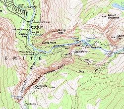 Sierra Point (Yosemite) - Wikipedia on atlanta trail map, maxwell falls trail loop map, windsor trail map, glacier national park trail map, kentucky trail map, glencoe trail map, dead horse point trail map, zion national park trail map, acadia national park trail map, yosemite trail guide, highland trail map, half dome trail map, kulshan trail map, bell trail map, yosemite ten lakes trail, whittier trail map, yosemite hat, black canyon of the gunnison trail map, hollywood trail map, west seattle trail map,