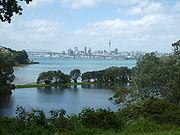 Harbour Bridge et le port de Waitemata vus depuis Chelsea
