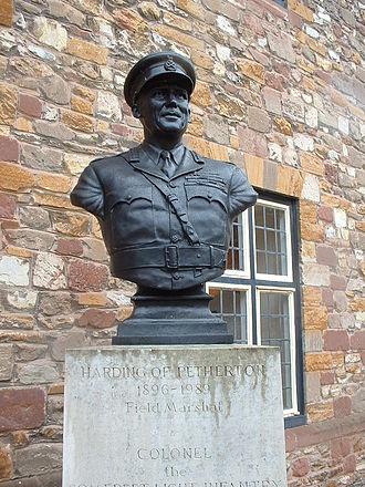 Somerset Light Infantry - Allan Francis John Harding, 1st Baron Harding of Petherton. Colonel of the Somerset Light Infantry 1953–1959.