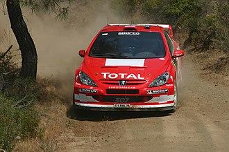 Harri Rovanperä - Rovanperä at the 2004 Cyprus Rally.