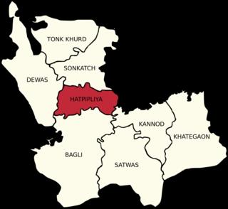 Hatpipliya Town in Madhya Pradesh, India