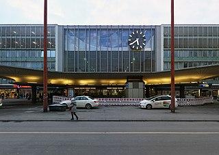München Hauptbahnhof main railway station in Munich, Germany