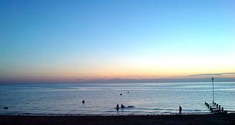 Heacham - Sunset at Heacham beach
