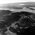 Hebgen Lake, Glacial Lake, September 9, 1970 (GLACIERS 1633).jpg