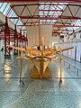 Heck eines rekonstruirten Römischen Militärschiffs Navis lusoria im Museum für Antike Schifffahrt, Mainz, Deutschland (48988480502).jpg