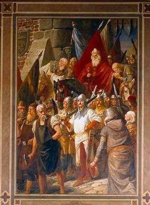 Landfrieden - Image: Heinrich IV. in Mainz
