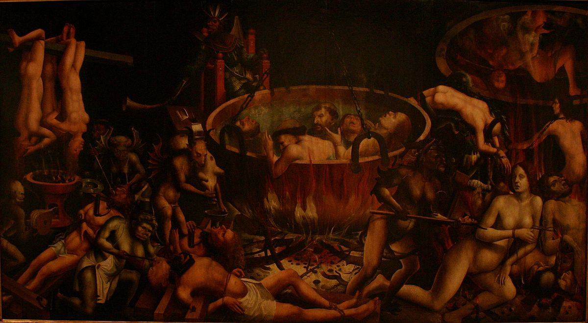 Hell - Unknown Master - Portugal - 1st third of 16th century - oil on oak.JPG