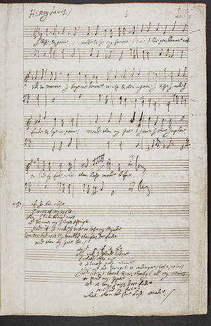 "Henry Lawes - Manuscript of ""I Rise and Grieve"", in Lawes's hand"