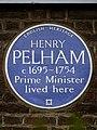 Henry Pelham (c.1695-1754) Prime Minister lived here - Blue Plaque.JPG