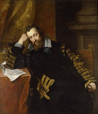Robert Hues - Van Dyck's portrait of Henry Percy, the 9th Earl of Northumberland, with whom Hues was associated