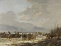 Het doorijzen van de Karnemelksloot bij Naarden, januari 1814 Rijksmuseum SK-A-1098.jpeg