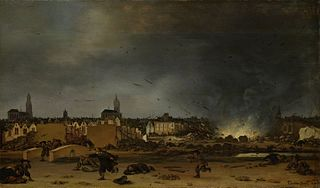 The explosion of the powder magazine in Delft, 12 October 1654