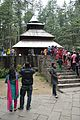 Hidimba Devi Temple with Visitors and Worshippers - Manali 2014-05-11 2661.JPG