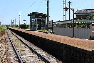 Higashi-Ishiguro Station Railway station in Nanto, Toyama Prefecture, Japan