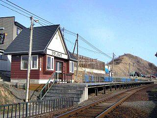 Higashichō Station Railway station in Urakawa, Hokkaido, Japan