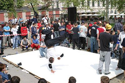 Breakdancer la Ljubljana.