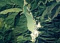 Hirose Dam Lake Aerial photograph.1976.jpg