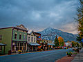 Historic Elk ave - first snow of 2014 on Mt. CB.jpg