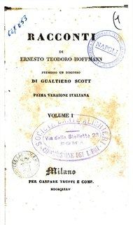 Hoffmann - Racconti I, Milano, 1835.djvu
