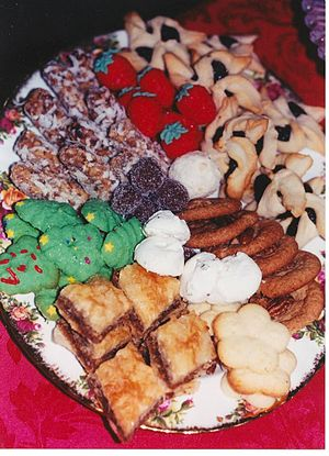 Cookie - American traditional Christmas cookie tray