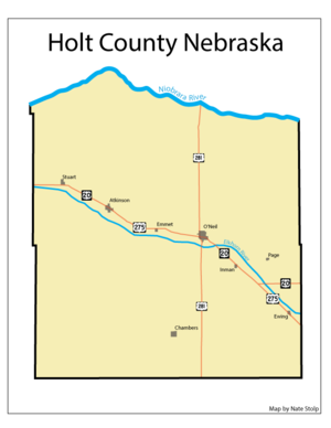 Holt County, Nebraska - Holt County Nebraska Map