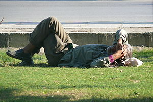Social class in Iran - A homeless man in Ahvaz, Iran