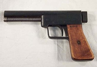 Improvised firearm - A homemade pistol, confiscated by the Swedish Police. Given to the Museum of Vänersborg in 1985.