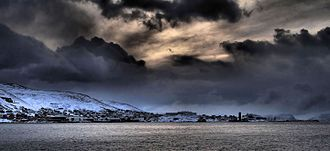 Honningsvåg - Winter sky in Honningsvåg