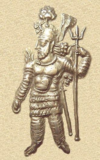 Kushano-Sasanian Kingdom - Portrait of Kushano-Sasanian ruler Hormizd I Kushanshah (c. 277-286 CE) in Kushan style.