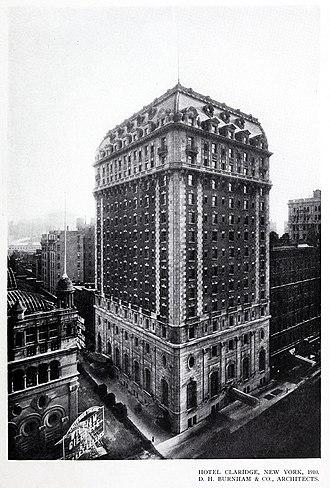 Hotel Claridge - Image: Hotel Claridge, New York, 1910