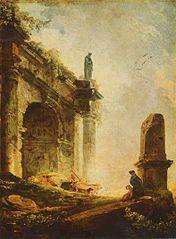 Ruines antiques (Arc de Titus à Rome)