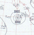 Hurricane Three analysis 15 Sep 1953.png