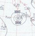 Hurricane Three analysis 15 Sep 1953.png