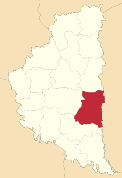 Location of Husjatinas rajons