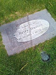 Hutton, Betty (grave)
