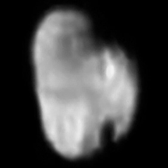 Hydra (moon) from 231 000 kilometres