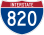 Interstate 820 marker