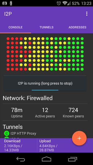 I2P - I2P running on Android.