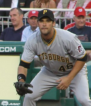 Garrett Jones - Jones fielding for the Pirates