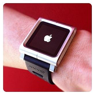 Wearable computer - LunaTik, a machined wristband attachment for the 6th-generation iPod Nano
