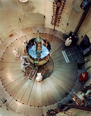 International Cometary Explorer - The ISEE-3 (later ICE), undergoing testing and evaluation.