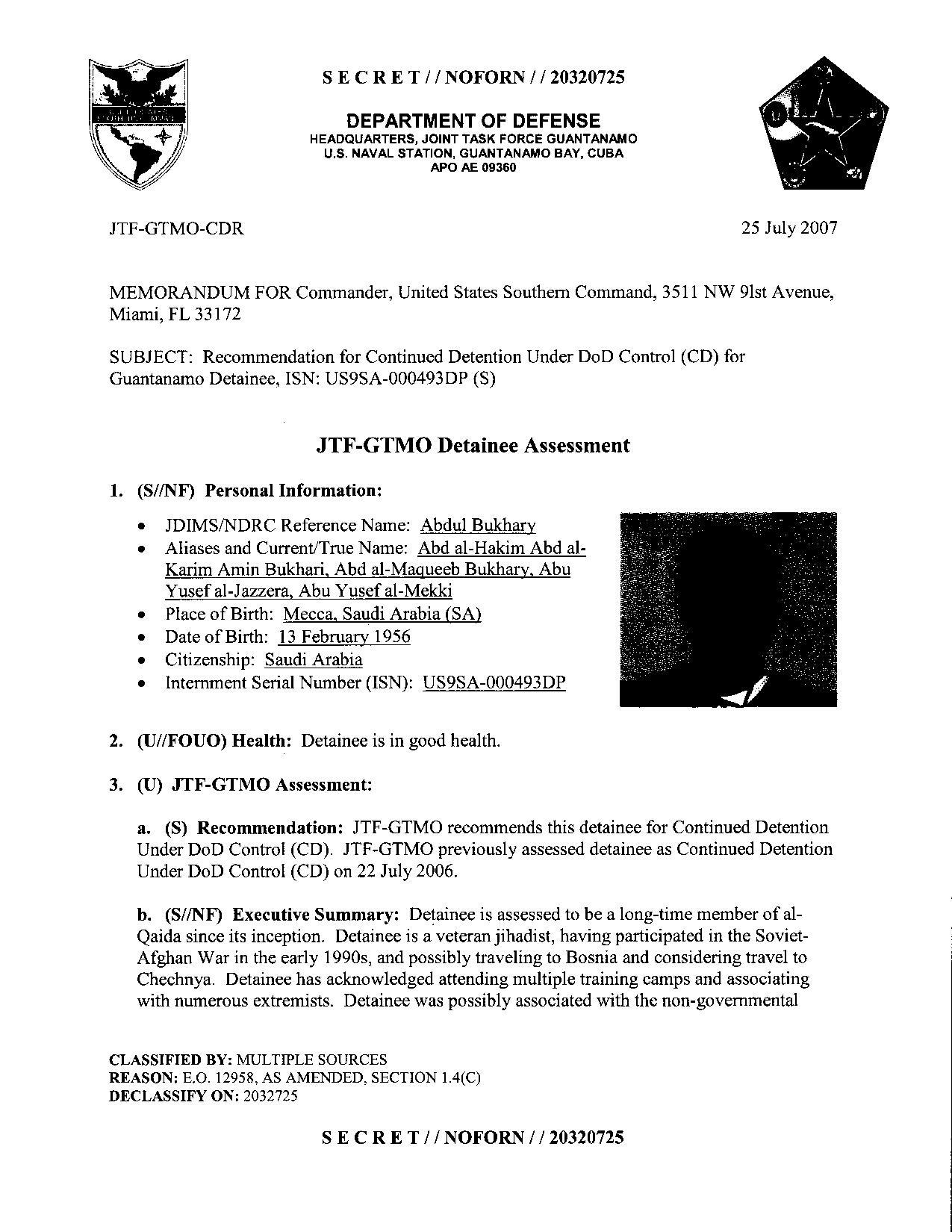 ISN 493's Guantanamo detainee assessment.pdf