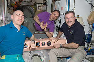 Anatoli Ivanishin - Ivanishin(left) pictured with his fellow Soyuz crew members during Expedition 30