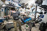 ISS-42 Samantha Cristoforetti working on airway monitoring.jpg