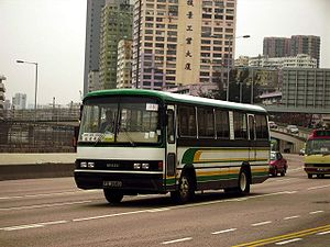 Isuzu Motors - Isuzu LT132L on a Hong Kong motorway