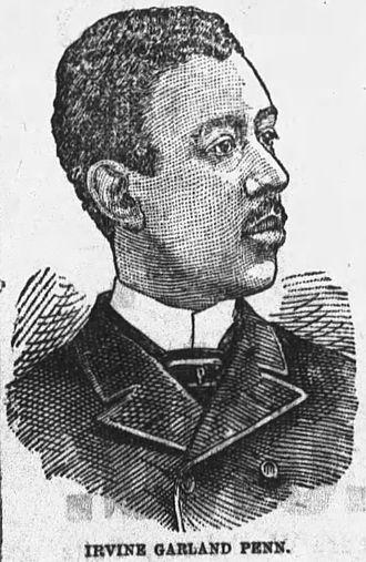 Irvine Garland Penn - I G Penn in 1892