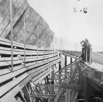 1902 Ibrox disaster - A photo of authorities inspecting the disaster area